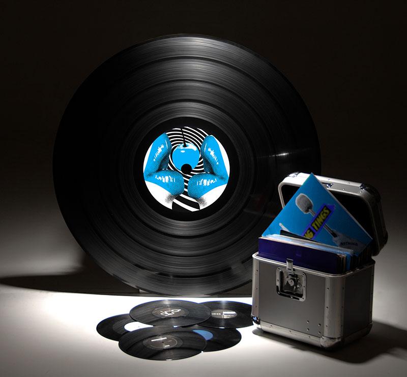 disque vinyle personnalisé avec manette Dj