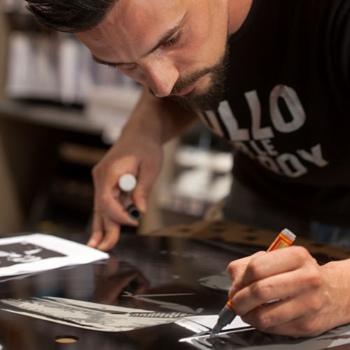 graffiti sur disque vinyl