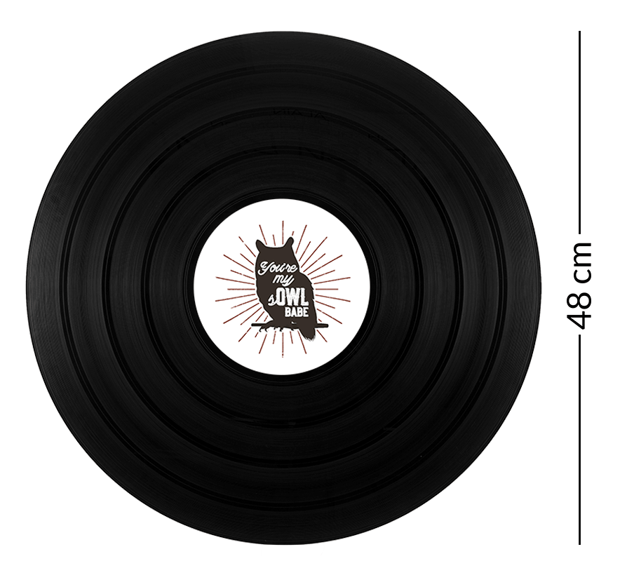 dimension du disque vinyle géant 48 tours