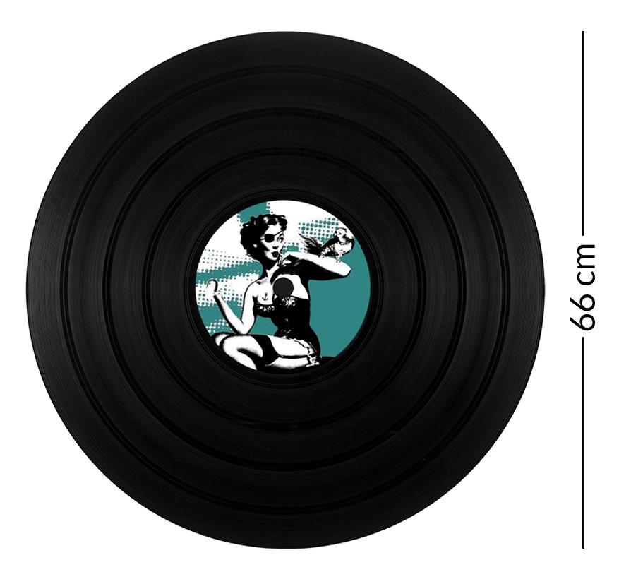 la vinylerie personnalisez votre disque vinyl d co de taille g ante. Black Bedroom Furniture Sets. Home Design Ideas