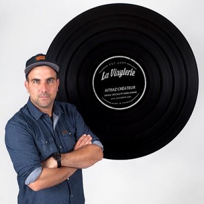 décorateur de disque vinyl