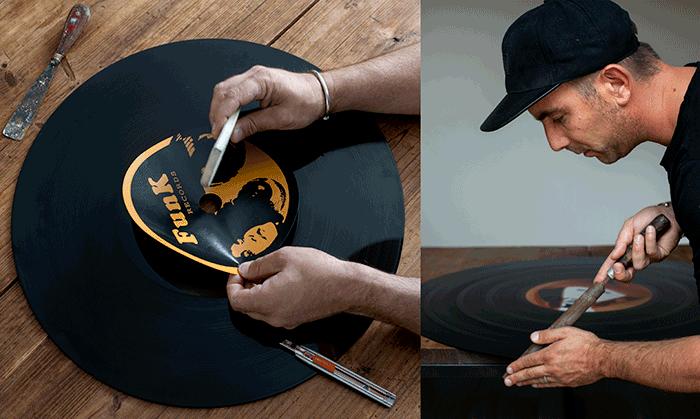 vinyle de fabrication artisanale modèle unique