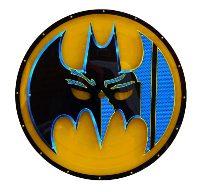 design de Batman sur grand Vinyl par artiste Eric Berger