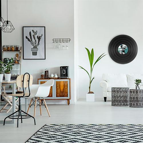 vinyle dans décor scandinave tendance déco et ambiance loft