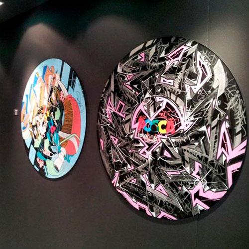 Soirée Posca customisation de Grand Vinyle 95 tours pat Graffeurs