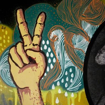 Détails de Grand Vinyl peint par artiste ROAN Graffeurs à Angers