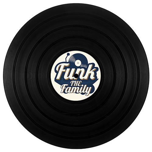 disque Vinyle Funk the family personnalisation personnelle