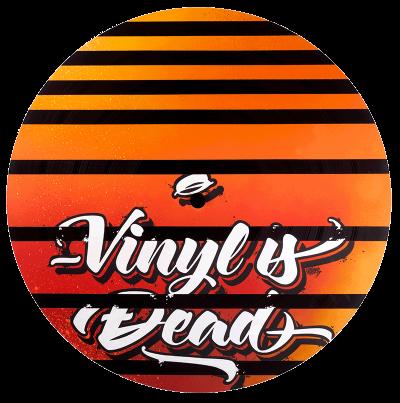 Grand Vinyle customs avec peinture à la bombe par Graffeurs, Vinyl is not dead