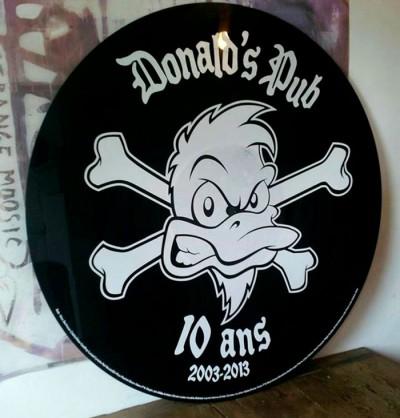 Logo du pub Donald's Pub à Angers pour fêter ses 10ans