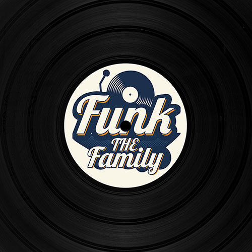 Vinyle funky grand vinyle décor Rock and funky family