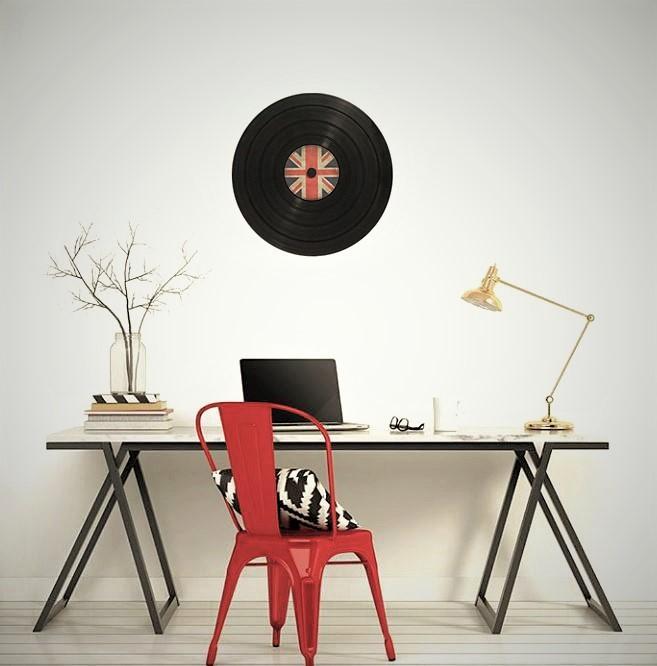 Le cadre vinyl de 48 cm de diamètre, cadeau originale et personnalisable