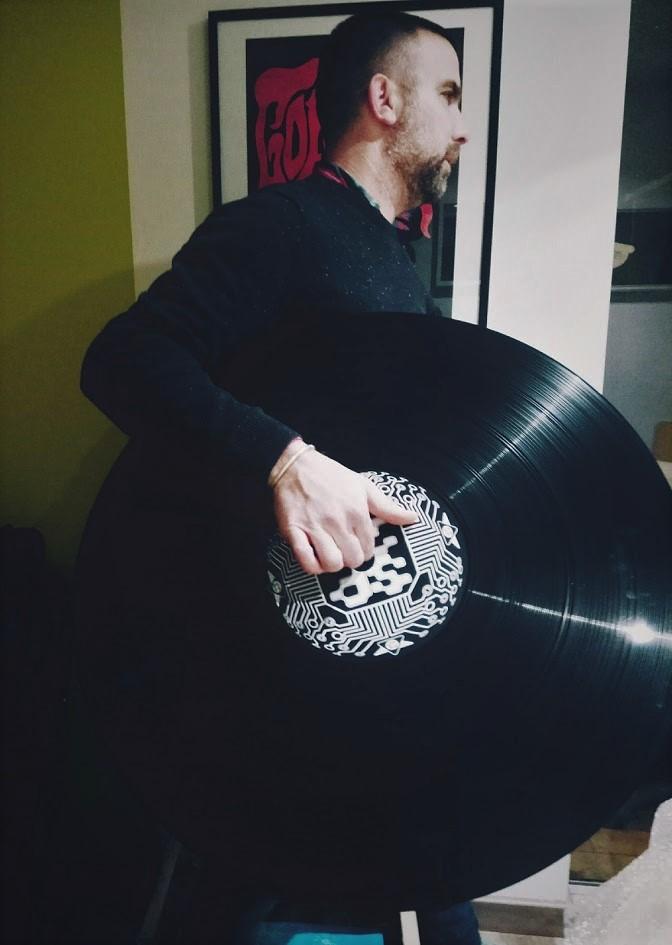 disque-vinyl-décoration-musique-techno