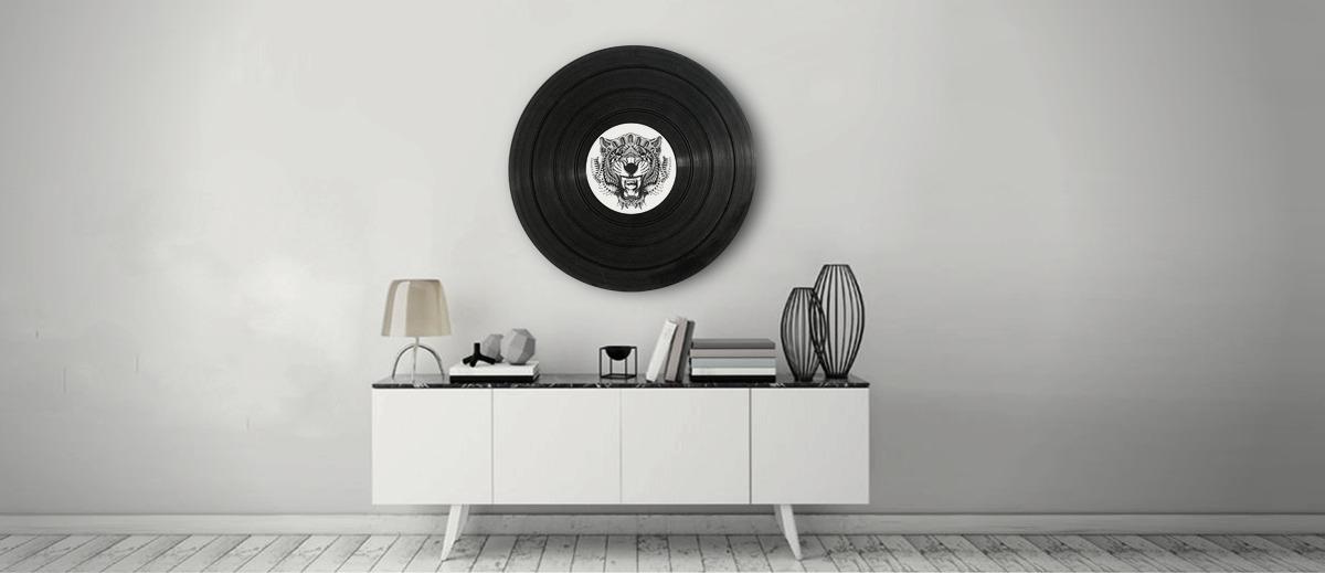 décoration en disque vinyle